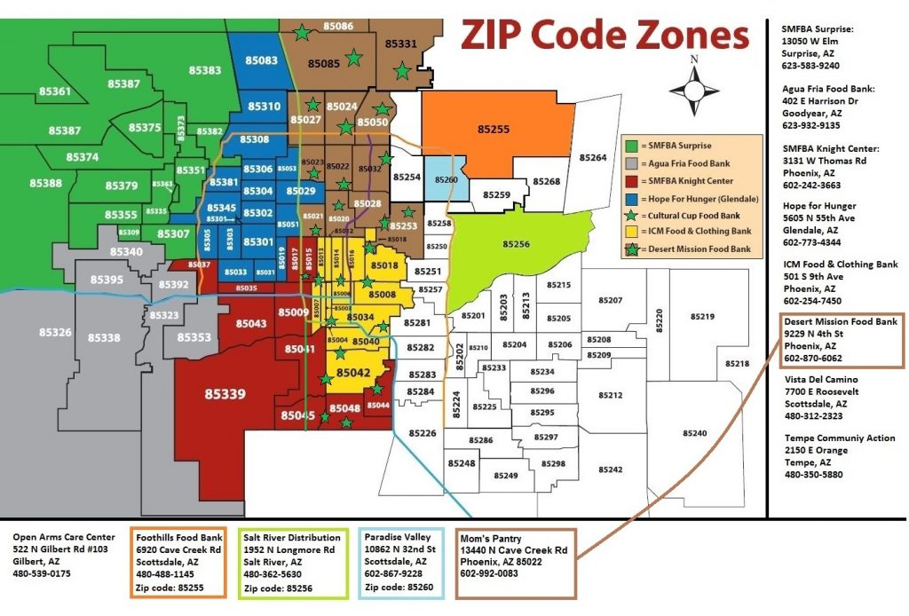 A Map Of Phoenix Arizona.Phoenix Zip Code Map Az Agenda